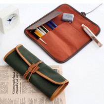 The Basic canvas roll pencil case pen pouch ver.2