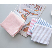 Stripe pattern cotton handkerchief hankie