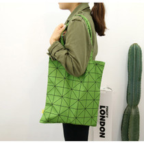 Pattern cotton tote shoulder bag