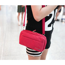 Pink - Travelus water resistant cross shoulder bag ver.4