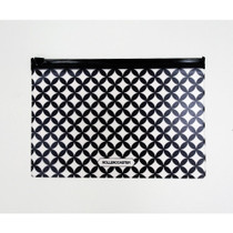 Black bubble pattern clear zip lock pouch