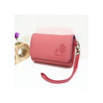 Pink leather camera case