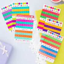 Color date adhesive sticker set of 6 sheets