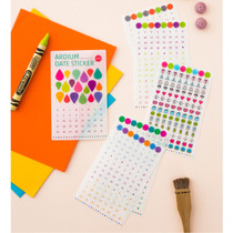 Date adhesive sticker set of 6 sheets