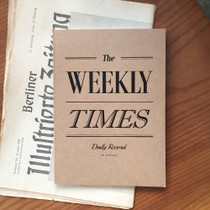 Vintage the Weekly times planner notebook