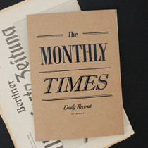 Vintage the Monthly times planner
