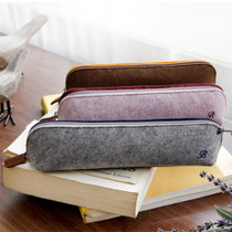 The Basic felt two tone color zipper pencil case