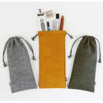 The Basic felt long drawstring pouch ver.3