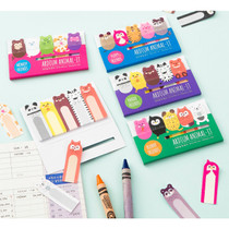 Cute animal sticky memo notes set