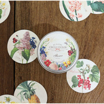 Flower circle sticker set with tin case