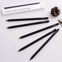 Black wood pencil set of 5