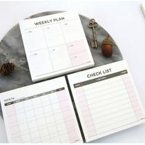 Desk scheduler memo pad 60 sheets