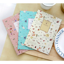 Indigo Willow story illustration school lined notebook set