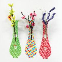 Enamel wall hanging vase