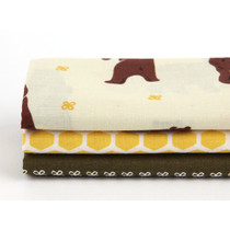 fabric pack of 3 cotton - Walk through the forest