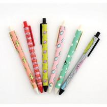Hellogeeks cute pattern black ballpoint pen