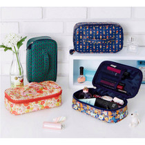 Flower pattern square multi pouch