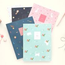 Piyo cute pattern lined notebook