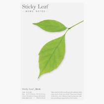 Birch leaf green sticky memo notes Medium