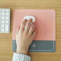 pink gray mouse pad