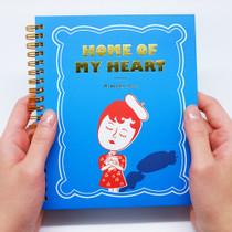 Aurore my heart wirebound plain notebook ver.3