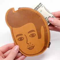 Pierre face pocket flat zipper pouch