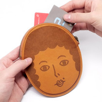 Phoebe face pocket flat zipper pouch