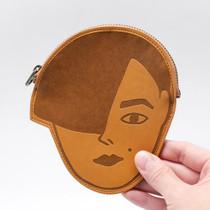 Andre face pocket flat zipper pouch