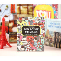 Big point mariffe deco sticker
