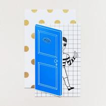 Tabom boy open door message card