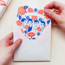 Aurore jardin message card