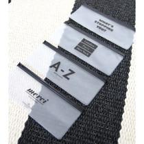 Black typo clear zip lock pouch slim