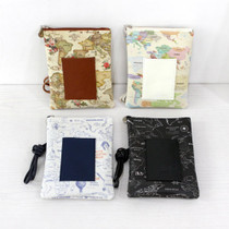 World map pattern small crossbody bag