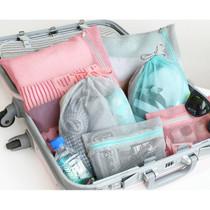 Mesh travel zipper pouch set