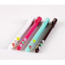 Argyle pattern color gel pen 0.38mm