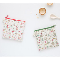 Heimish pattern flat small zipper pouch