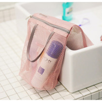 Soft pink - Travelus long mesh pouch ver.3