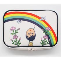 Aurore rainbow block large pouch