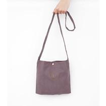 Red bean - Linen 6 eco crossbody shoulder bag