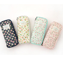 Flower pattern zipper pencil case