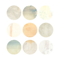 Natural and Pure round deco sticker set 03