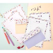 Flower pattern pastel letter paper and envelope set