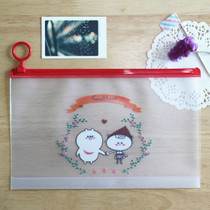 Today's picture secret forest large clear pouch