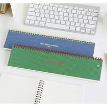 Desk wirebound grid memo pad planner