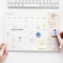Desk wirebound pattern undated monthly planner