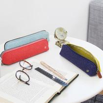 The Basic felt two tone color zipper pencil case ver.4