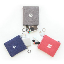 The basic felt charger pouch with key ring ver.4