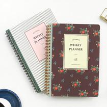 Becoming wirebound undated weekly planner