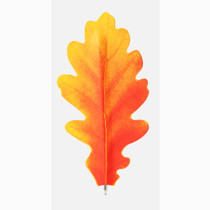 Acorn orange leaf bookmark black ballpoint pen