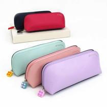 Rubber block zipper slider pencil case